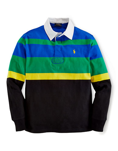 RALPH LAUREN CHILDRENSWEAR Boys 8-20 Cotton Rugby Shirt