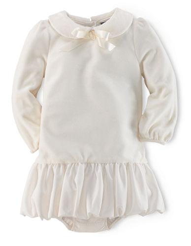 RALPH LAUREN CHILDRENSWEARBaby Girls Velour Party Dress