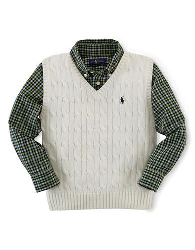 RALPH LAUREN CHILDRENSWEARBoys 2-7 Cable Knit Vest