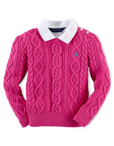 RALPH LAUREN CHILDRENSWEARGirls 2-6x Cotton Knit Pullover Top
