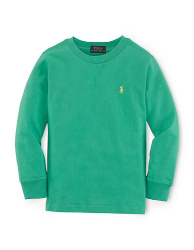 RALPH LAUREN CHILDRENSWEAR Boys 2-7 Long Sleeve Tee