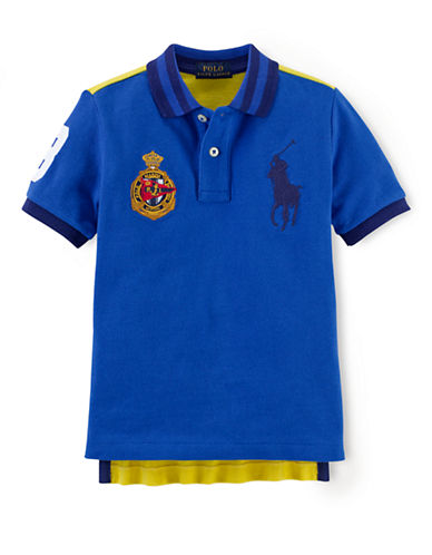 RALPH LAUREN CHILDRENSWEARBoys 2-7 Embellished Mesh Polo