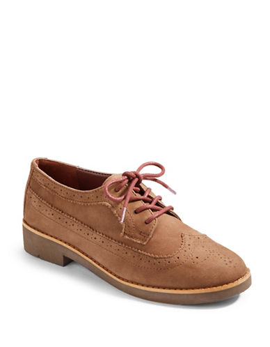 LAUREN RALPH LAUREN Imogen Oiled Nubuck Leather Oxfords