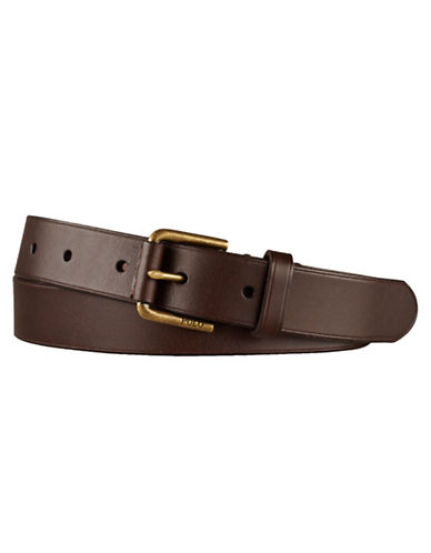 POLO RALPH LAUREN Leather Covered-Buckle Belt
