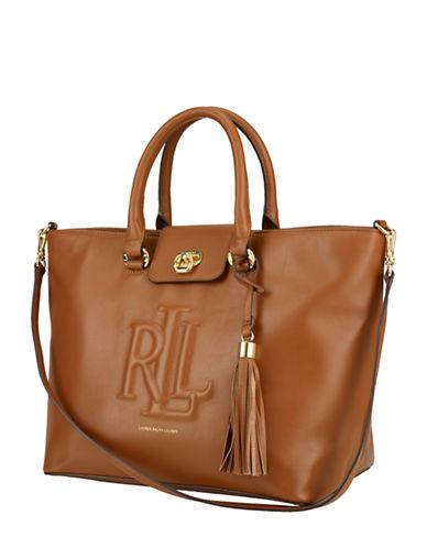 LAUREN RALPH LAURENConvertible Leather Tote Bag