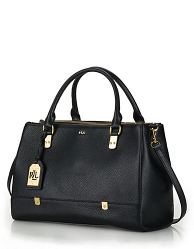 LAUREN RALPH LAUREN Morrison Leather Tri Zip Satchel