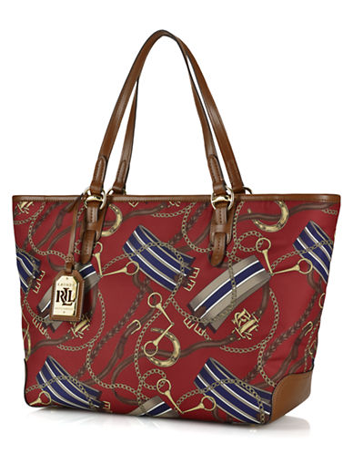 UPC 888188082656 product image for Lauren Ralph Lauren Equestrian Warwick  Nylon and Leather Tote Bag ... 38adefdc2a4cb