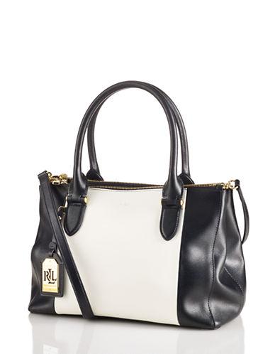 LAUREN RALPH LAURENNewbury Leather Color Blocked Shopper Tote Bag
