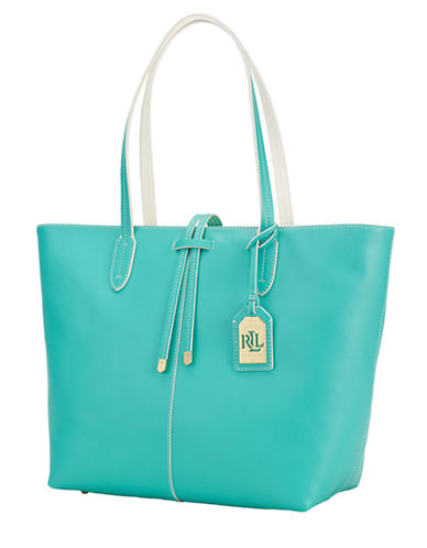 Lauren Ralph Lauren Leather Two-Toned Tote