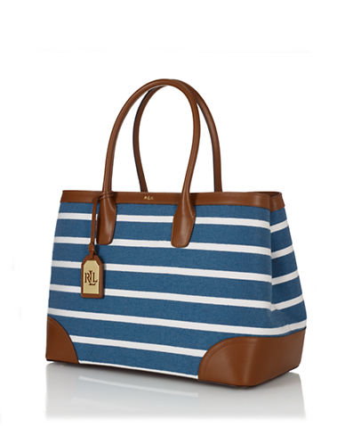 c522e082a1e7 UPC 888188140028 product image for Lauren Ralph Lauren City Striped Canvas Tote  Bag