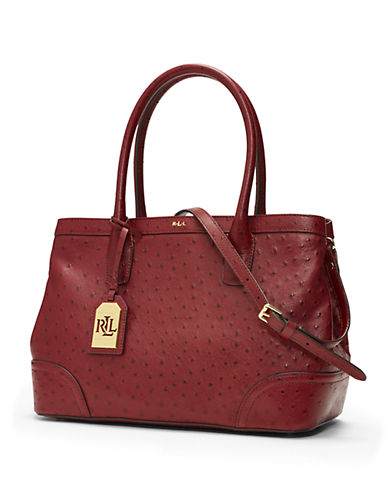 LAUREN RALPH LAUREN Farfield Embossed Leather Satchel