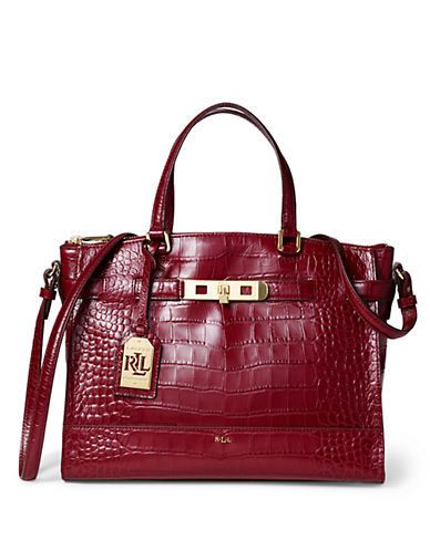 LAUREN RALPH LAUREN Darwin Embossed Leather Satchel