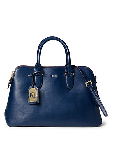 LAUREN RALPH LAUREN Newbury Leather Dome Satchel