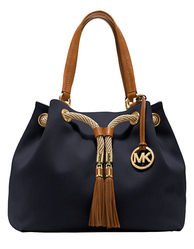 UPC 888235004679 product image for Michael Kors Marina Large Gathered Tote  Navy | upcitemdb.com