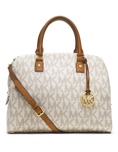 MICHAEL MICHAEL KORS Jet Set Leather Large Travel Satchel