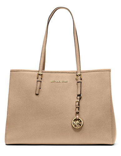 MICHAEL MICHAEL KORS Jet Set Leather Large East West Tote