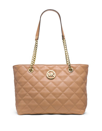 MICHAEL MICHAEL KORS Fulton Quilted Leather Large East West Tote Bag