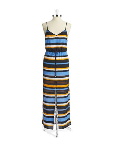MICHAEL MICHAEL KORSPetite Striped Maxi Dress