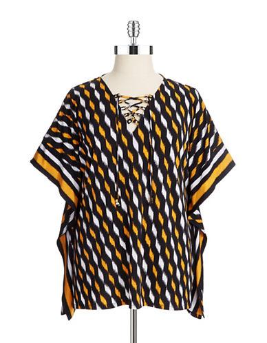Michael Michael Kors Plus Plus Patterned Kimono Top