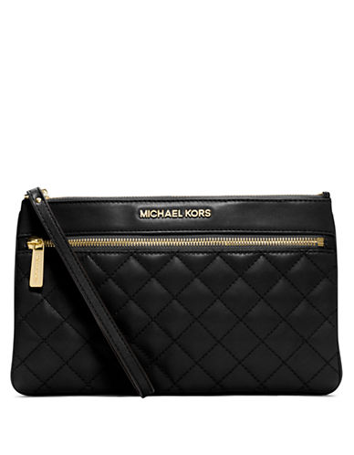 MICHAEL MICHAEL KORS Selma Quilted Leather Large Zip Clutch