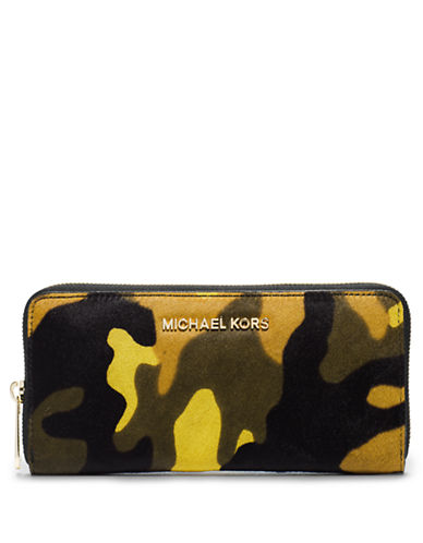 7903fc755553 ... UPC 888235528274 product image for Michael Michael Kors Jet Set Hair  Calf Travel Continental Wallet ...