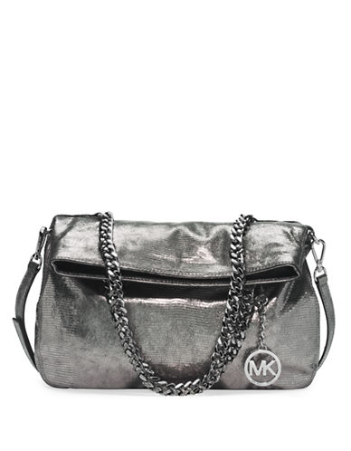MICHAEL MICHAEL KORS Lacey Leather Medium Fold Over Tote Bag