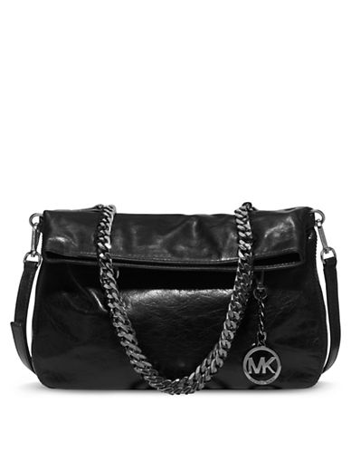 MICHAEL MICHAEL KORSLacey Leather Medium Fold Over Tote Bag