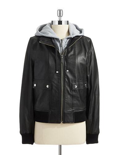 MICHAEL MICHAEL KORSHooded Moto Jacket