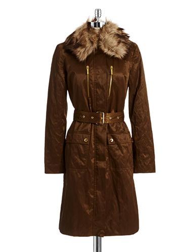MICHAEL MICHAEL KORSFaux Fur Accented Puffer Coat