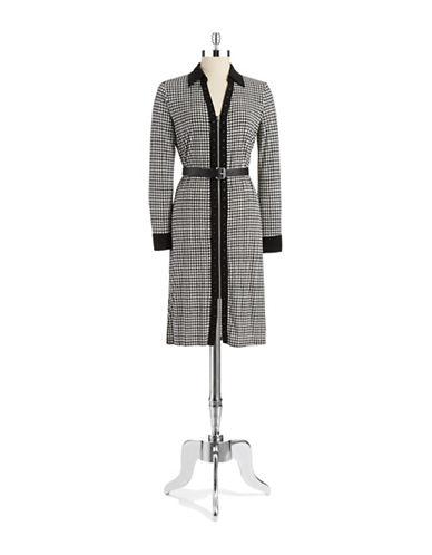 Shop Michael Michael Kors online and buy Michael Michael Kors Houndstooth Zipper Dress dress online
