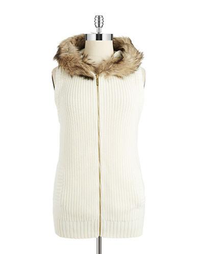 Michael Michael Kors Plus Plus Faux Fur Accented Vest