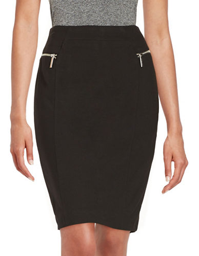 MICHAEL MICHAEL KORS Petite Zipper Accented Pencil Skirt