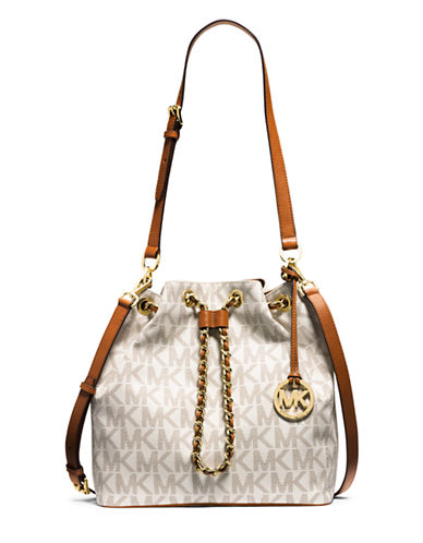 44009f450984 ... reduced upc 888235844435 product image for michael michael kors frankie  signature large convertible drawstring bag upcitemdb
