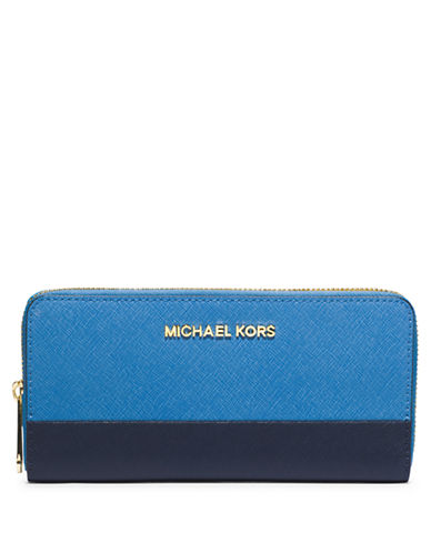 542670fba58596 UPC 888235862583 product image for Michael Michael Kors Jet Set Leather  Colorblock Continental Wallet | upcitemdb ...