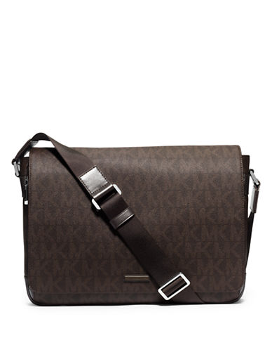 michael kors male 211468 signature messenger bag