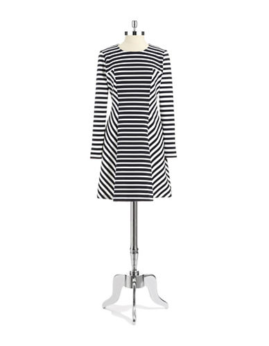 Shop Michael Michael Kors online and buy Michael Michael Kors Contrast Stripe Flare Dress dress online