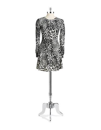 Shop Michael Michael Kors online and buy Michael Michael Kors Petite Animal Print Fit and Flare Dress dress online