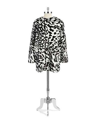 Michael Michael Kors Plus Plus Patterned Faux Fur Coat