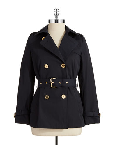 Michael Michael Kors Plus Plus Double Breasted Trench