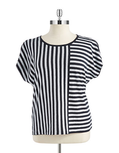 Michael Michael Kors Plus Plus Sequin Stripe T-Shirt