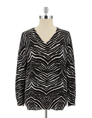 Michael Michael Kors Plus Plus Zebra Print Sweater