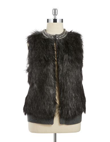 Michael Michael Kors Plus Plus Chain Link Faux Fur Vest