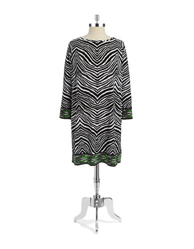 Michael Michael Kors Plus Plus Zebra Shift Dress