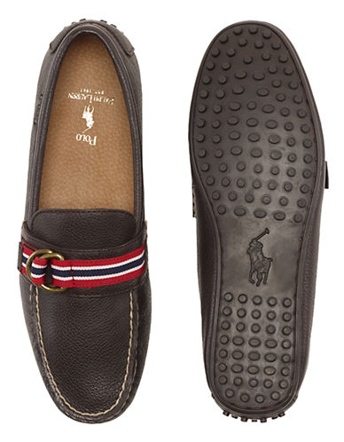 POLO RALPH LAUREN Wilem Leather Ribbon Loafers