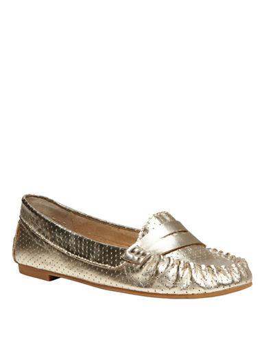 STEVE MADDENMurphey Metallic Leather Flats