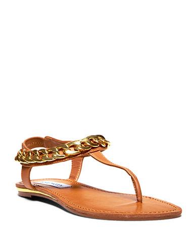 STEVE MADDENHottstuf T-Strap Chain Sandals