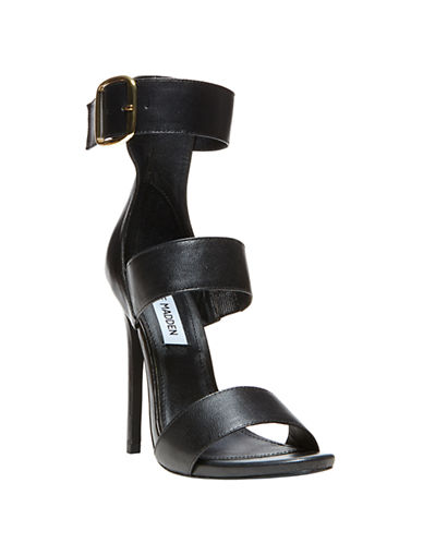 STEVE MADDEN Mysterii High-Heel Leather Sandals