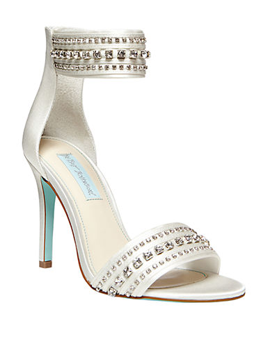 BETSEY JOHNSONCharm Crystallized Satin Heels