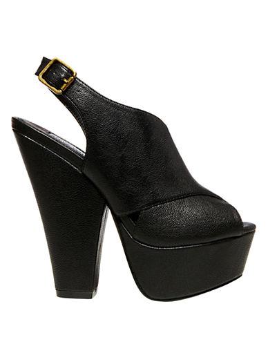 STEVE MADDENGalleria Peep-Toe Slingback Platform Sandals