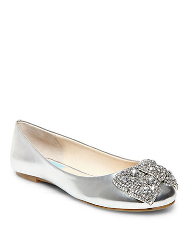 BETSEY JOHNSON Ever Metallic Bow Flats